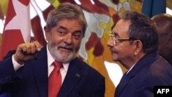 Luiz Inacio Lula da Silva y Raúl Castro.
