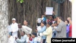 Reporta Cuba Activistas en #TodosMarchamos domingo 24 fotos de Angel Moya