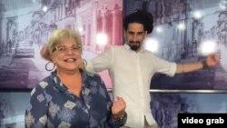 """Susana Pérez y Chucho del Chucho (Carlos Gabriel Espinosa) en el spot publicitario del espacio """"Cuba primero"""", que se transmite por primera vez hoy lunes a las 4:30 de la tarde en el canal de Youtube """"cantalotv.com""""."""