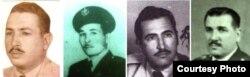 Juan Torres, Benito Cortés Maldonado, René Caso y Bonifacio Haza, masacrados el 12 de enero de 1959 en La Loma de San Juan, uno de los sitios históricos que visitarán los Reyes de España, pero por otras razones. (Archivo Cuba)