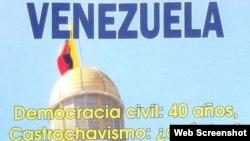 El libro Venezuela, Democracia Civil y Castrochavismo, escrito por Alexis Ortiz.