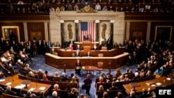 El legislador republicano de Ohio, John Boehner (c), después de ser elegido presidente de la Cámara de Representantes de EEUU. Archivo.