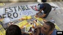Los indignados en España celebran el primer aniversario de su movimiento