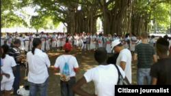 Reporta Cuba Damas en Parque Gandhi, domingo 26 de octubre. Foto: Angel Moya.
