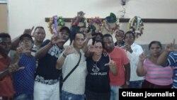 Activistas de UNPACU en el funeral de Hamell Santiago Maz Hernández.