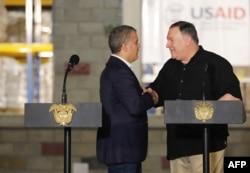 Secretario de Estado, Mike Pompeo e Iván Duque, presidente de Colombia en Cúcuta.