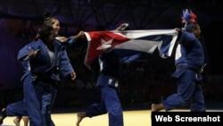 Judokas cubanas. Archivo.