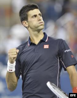 Novak Djokovic tras derrotar a Andy Murray.