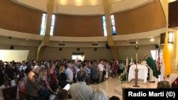 Misa en la Ermita de la Caridad el domingo 21 de julio de 2019, en honor al fundador del CCPDH, Ricardo Bofill.