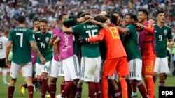 México celebra triunfo ante Alemania.