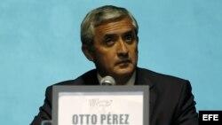 El presidente de Guatemala Oto Pérez Molina