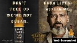 Campaña de Bacardí para promocionar el ron Havana Club destilado en Puerto Rico.
