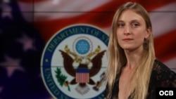 Carrie Filipetti, Subsecretaria Adjunta para Cuba y Venezuela, en los estudios de Radio Televisión Martí.