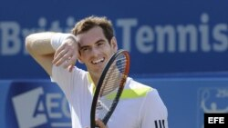 El campeón defensor de Wimbledon, el escocés Andy Murray. Foto de archivo.