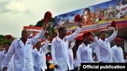 Médicos cubanos en Venezuela.