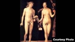 """""""Adán y Eva"""", Alberto Durero, 1507."""