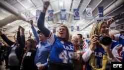 Simpatizantes del candidato presidencial estadounidense por el partido Republicano Ted Cruz
