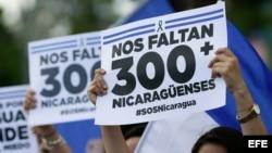 Continúan las protestas que exigen la renuncia de Ortega en Nicaragua.