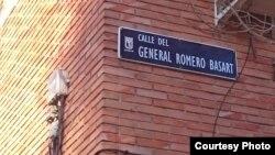 Calle General Romero Basart en Madrid.
