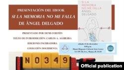 Folleto de presentación del nuevo libro de Angel Delgado.