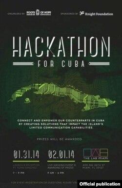 Cartel del evento Hackathon.