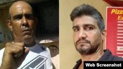 Dos nuevos presos políticos en Cuba, Luis Enrique Santos Caballero (izq.) y Yasser Fernando Rodríguez González (der.).