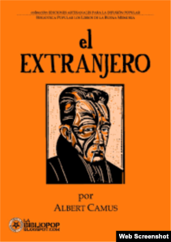 """""""El extranjero"""", Albert Camus."""