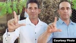 Yordan Mariño (Izq) junto a Eduardo Cardet Ambos del MCL en Cuba,