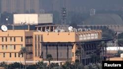 Vista parcial de la Embajada de Estados Unidos en la Zona Verde, en Bagdad.