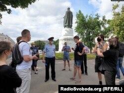 Piquete en apoyo a la periodista rusa