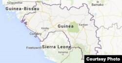 Mapa de Guinea-Conakry.