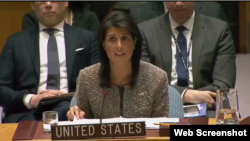 Nikkie Haley, embajadora de Estados Unidos en la ONU