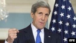 John Kerry, en una conferencia de prensa.