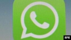 La aplicación de mensajería instantánea WhatsApp.