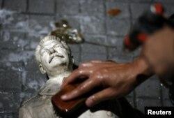 Una estatua de Joseph Stalin.