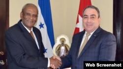 Embajador de Cuba en Honduras, Sergio Publio Oliva Guerra.