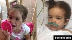 """""""A la izquierda está como la llevé cuando la fui a vacunar, y a la derecha como me la devolvieron"""", escribió Yaima Caballero Peralta en su cuenta de Instagram."""