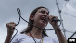 La exdiputada y dirigente opositora Maria Corina Machado.