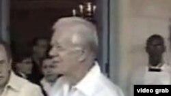 Carter en La Habana, durante su primera visita a la isla.