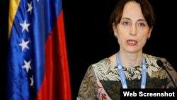 Alena Douhan, Relatora Especial de ONU sobre medidas coercitivas unilaterales y derechos humanos (Foto Reuters).