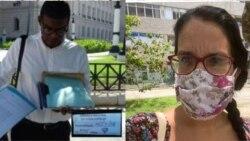 Enix Berrio y Luz Escobar están entre los detenidos en la ofensiva del gobierno contra el movimiento San Isidro.