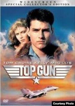 Cartel de la exitosa película Top Gun, con Tom Cruise y Kelly Mc Gillis. La parte 2 está en preparación.