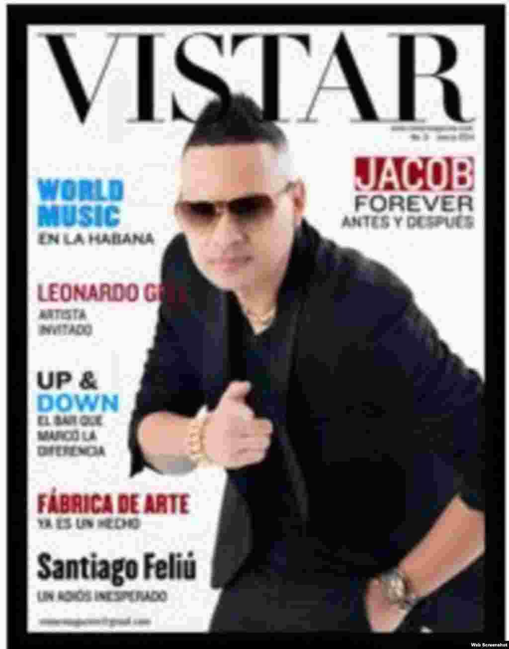 Número 1 de Vistar, revista de publicidad independiente en Cuba