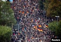 Manifestación en Chemnitz.