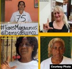 Deisi Artiles, Micaela Roll, Gladys Capote y Marieta Martínez