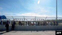 Vista del Puente Internacional de Coahuila en la frontera entre México y Estados Unidos.