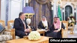 Mike Pompeo, se reunió el martes con el rey Salman de Arabia Saudita.
