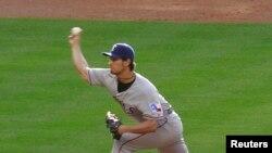 Foto de archivo del pícher de los Texas Rangers Yu Darvish en 2013. REUTERS/Richard Carson