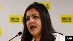 """Erika Guevara-Rosas, directora de Amnistía Internacional para Las Américas, leyó el poema, """"Si ves un monte de espuma"""", en solidaridad con el Movimiento San Isidro."""