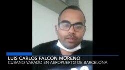 Cubano detenido en aeropuerto de Barcelona a la espera de respuesta